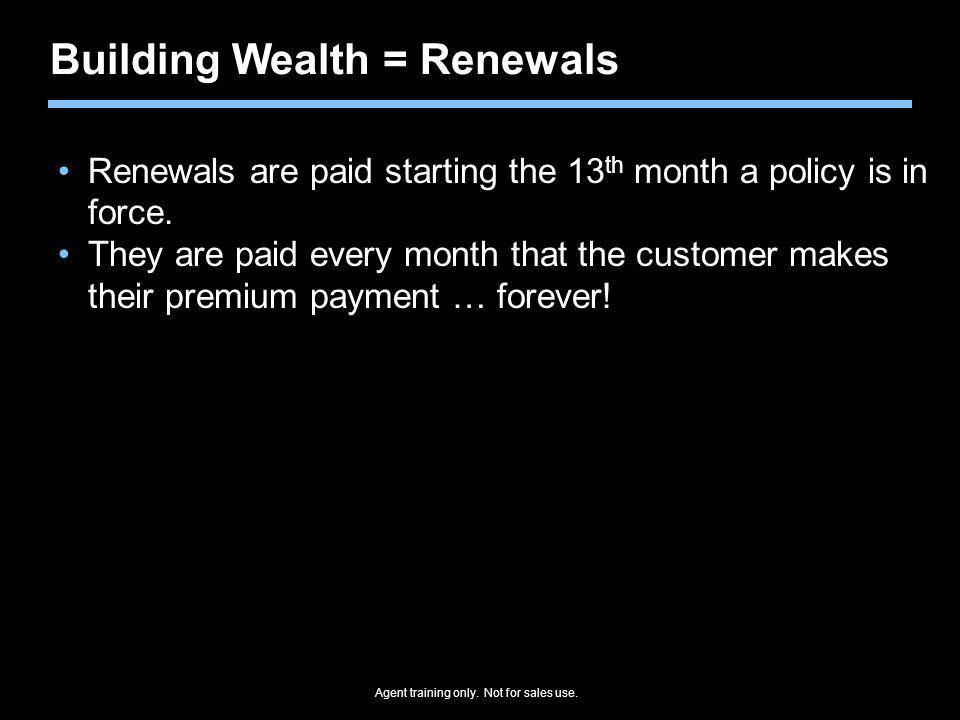 Building Wealth = Renewals