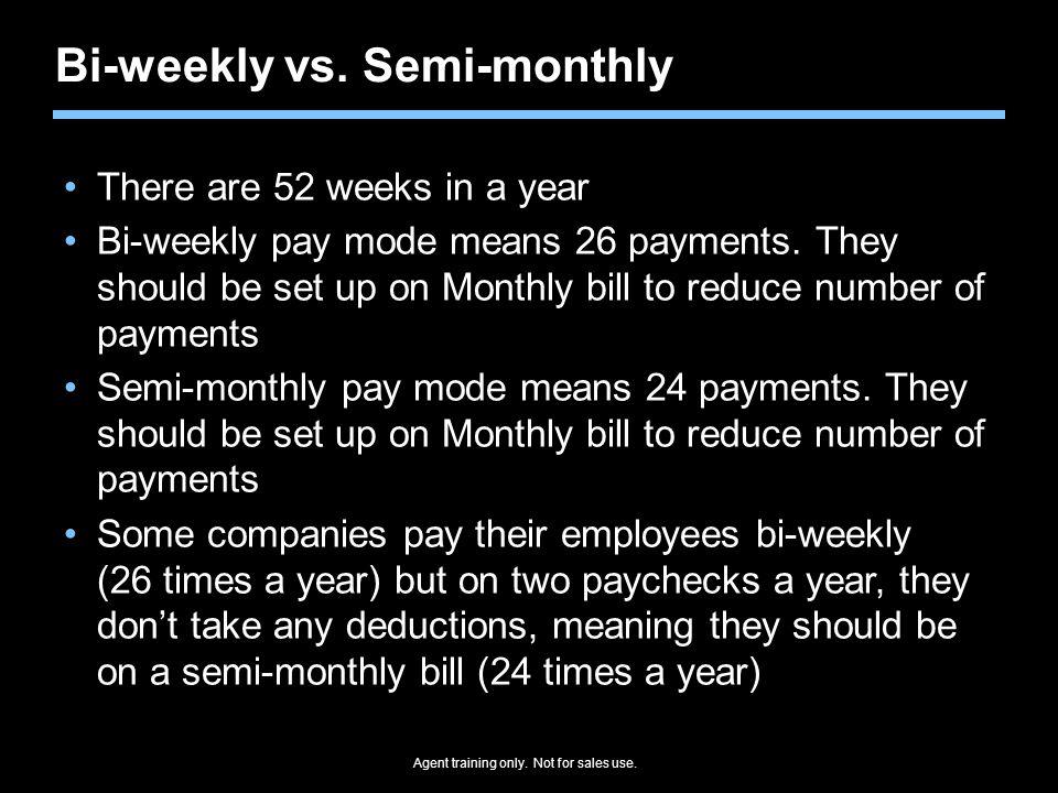 Bi-weekly vs. Semi-monthly