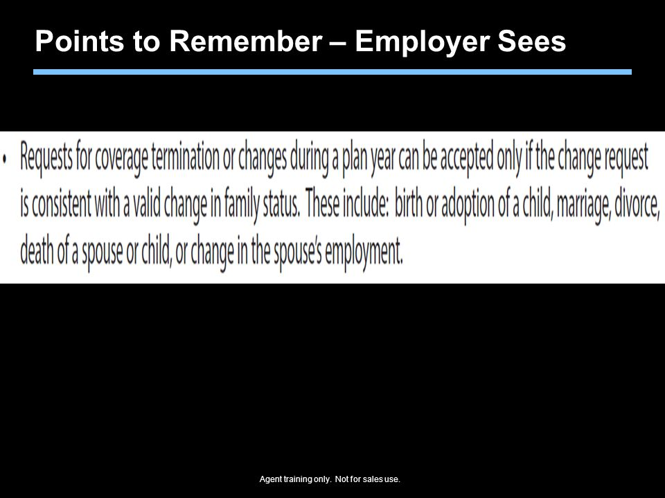 Points to Remember – Employer Sees
