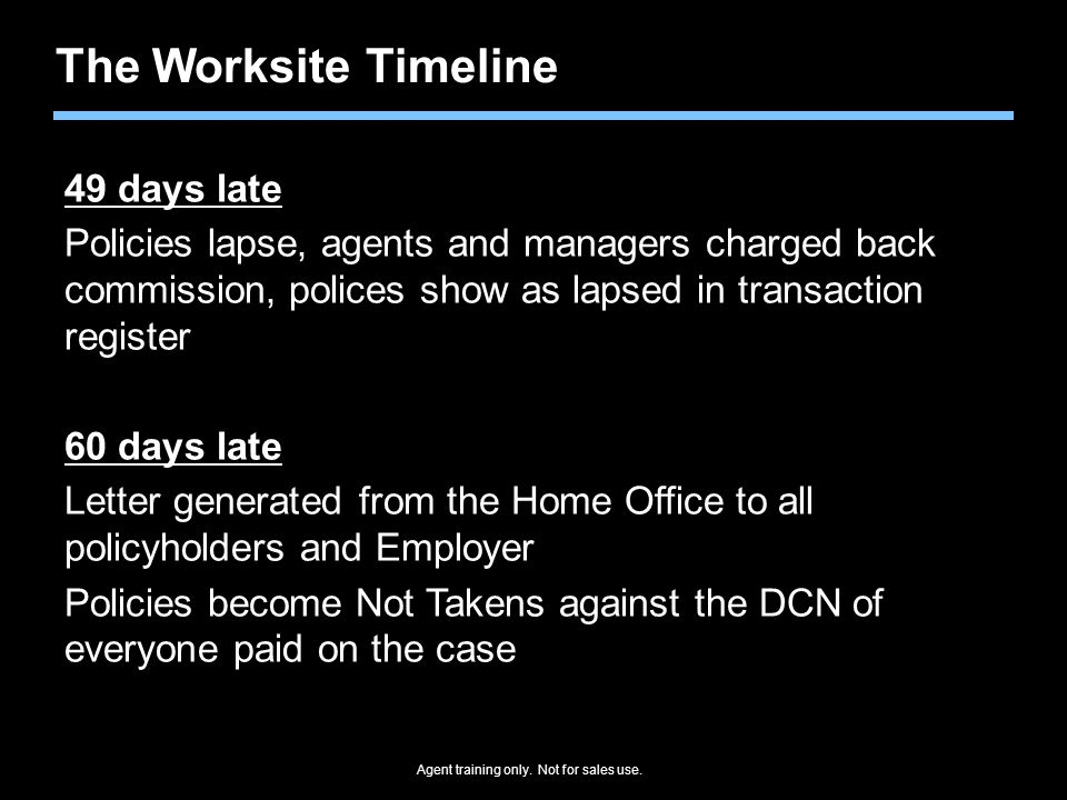 The Worksite Timeline 49 days late