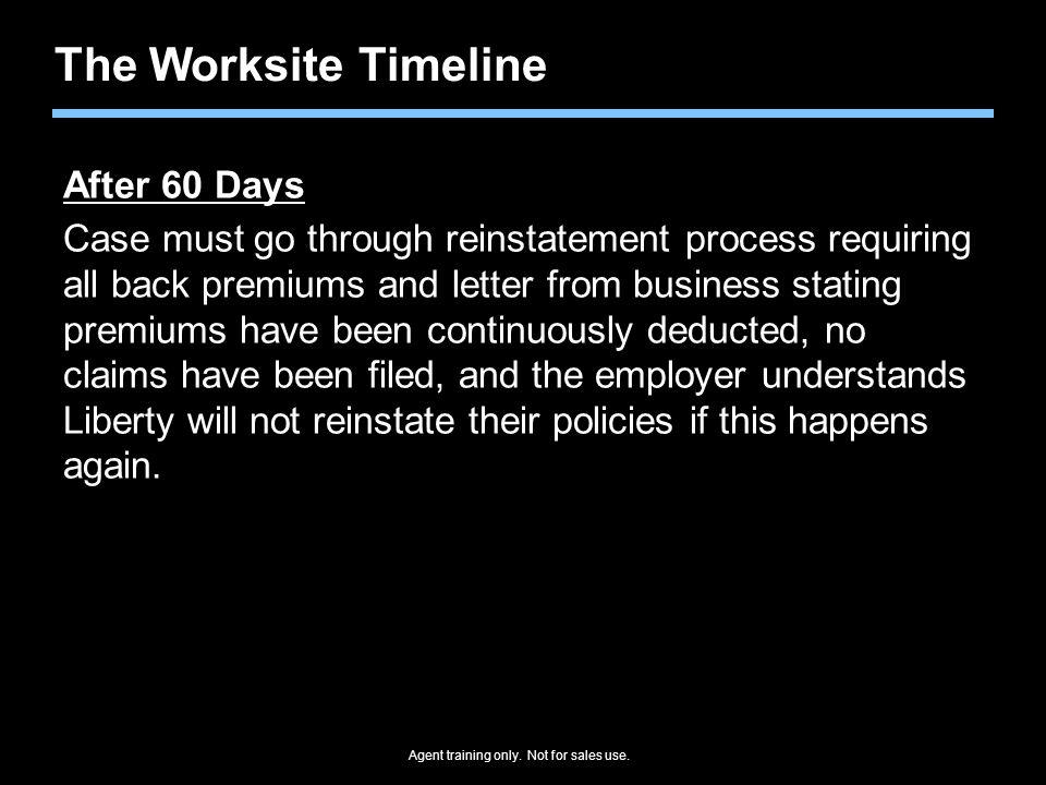 The Worksite Timeline After 60 Days