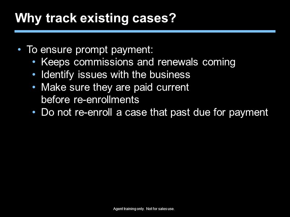 Why track existing cases