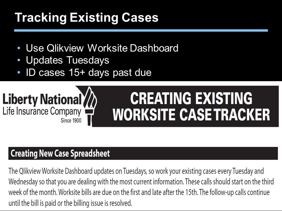 Tracking Existing Cases