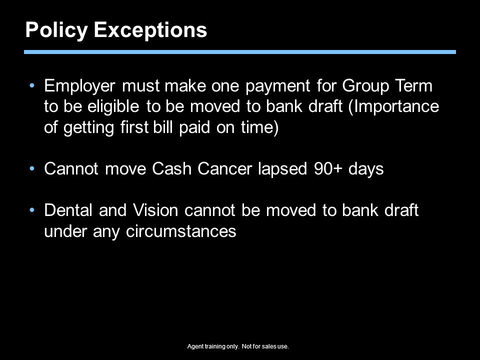 Policy Exceptions