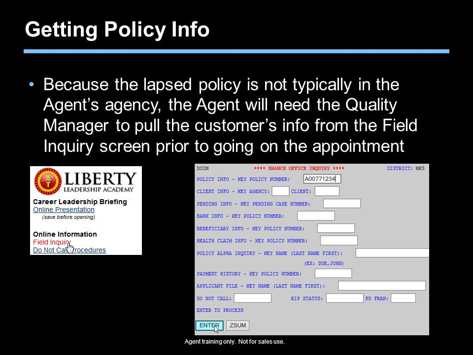 Getting Policy Info