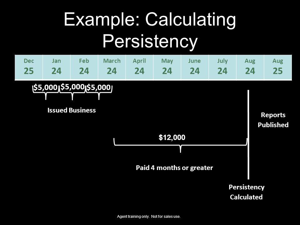 Example: Calculating Persistency