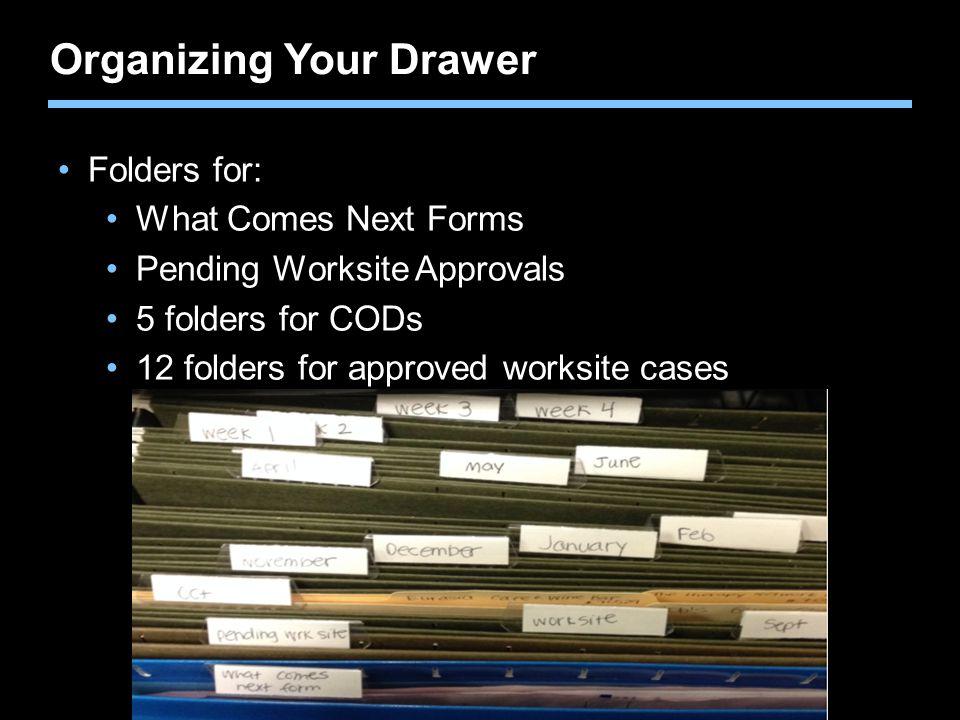 Organizing Your Drawer