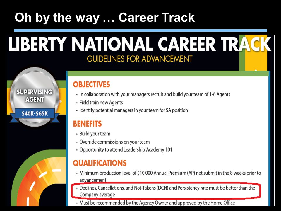 Oh by the way … Career Track
