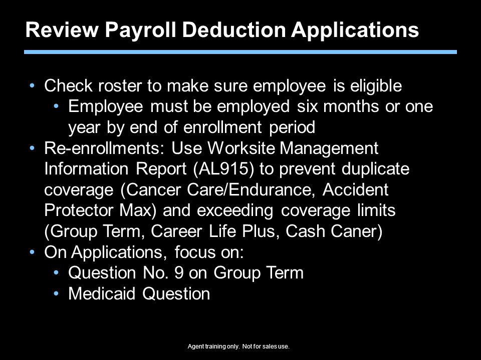 Review Payroll Deduction Applications