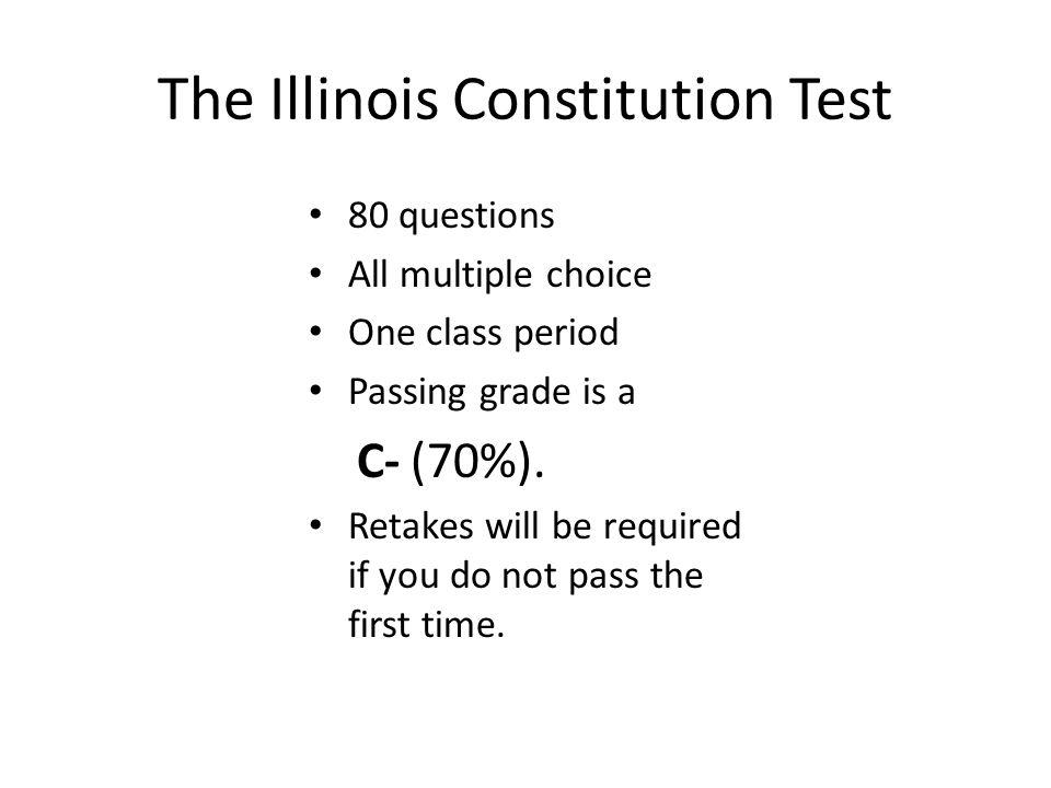 The Illinois Constitution Test
