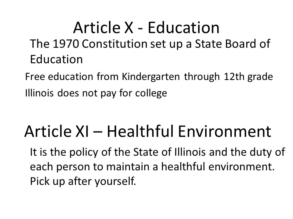 Article XI – Healthful Environment