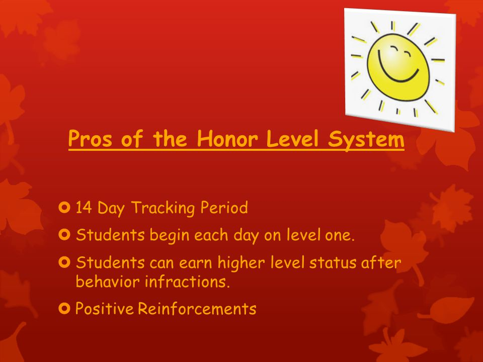 Pros of the Honor Level System
