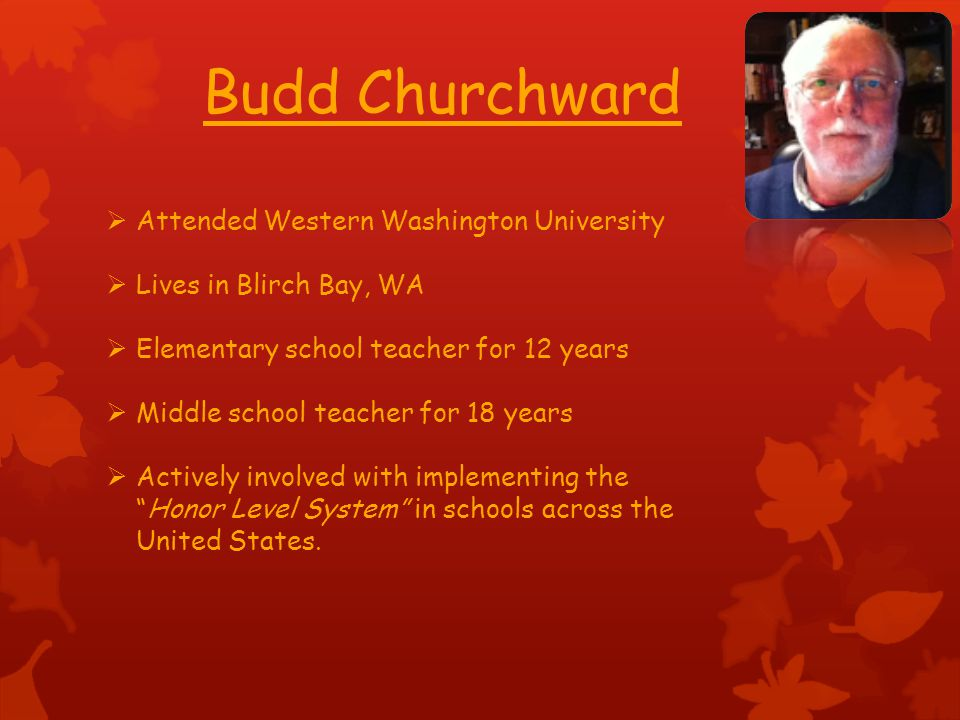 Budd Churchward Attended Western Washington University