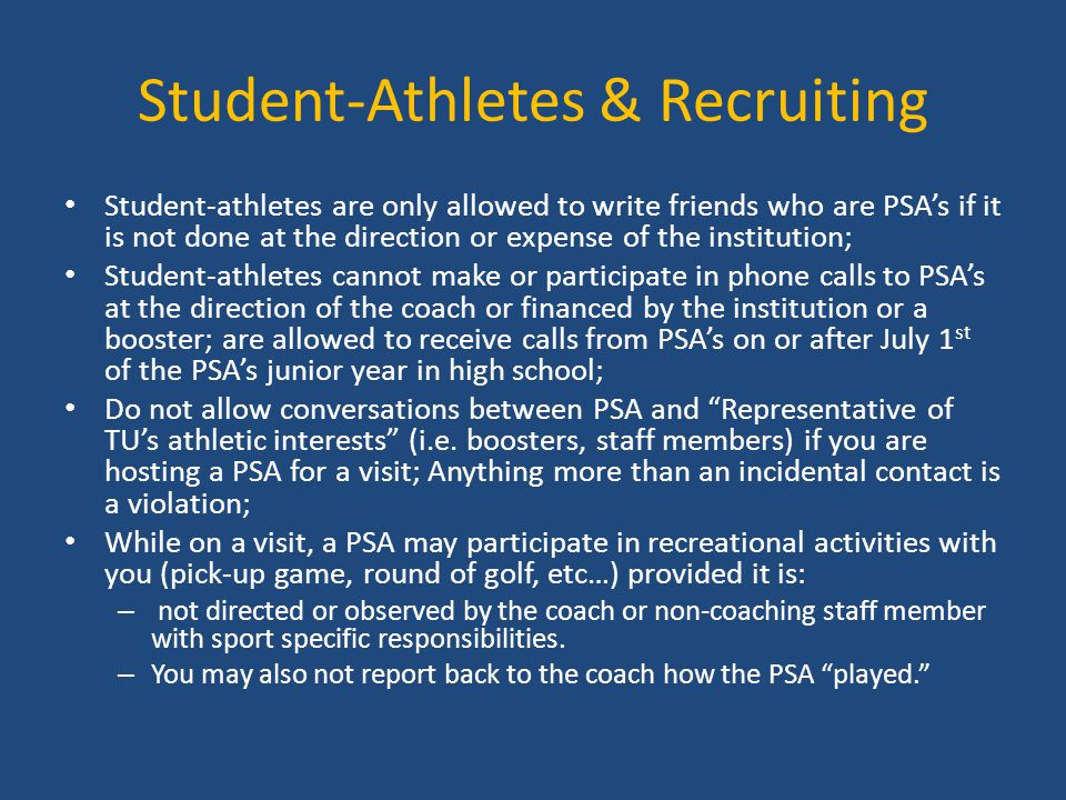 Student-Athletes & Recruiting