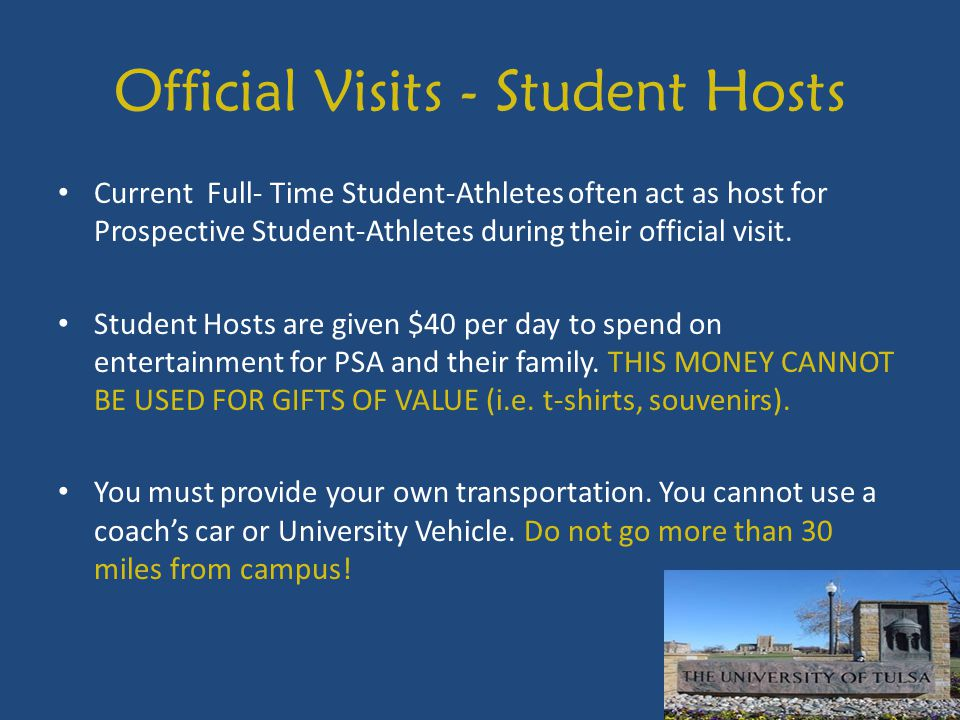 Official Visits - Student Hosts
