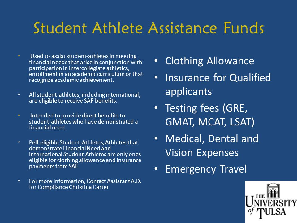 Student Athlete Assistance Funds