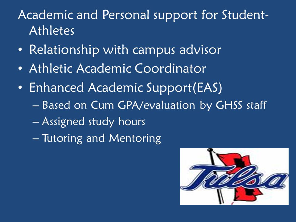 Academic and Personal support for Student-Athletes