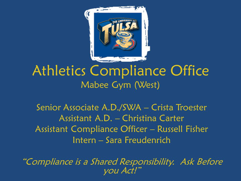 Athletics Compliance Office Mabee Gym (West)