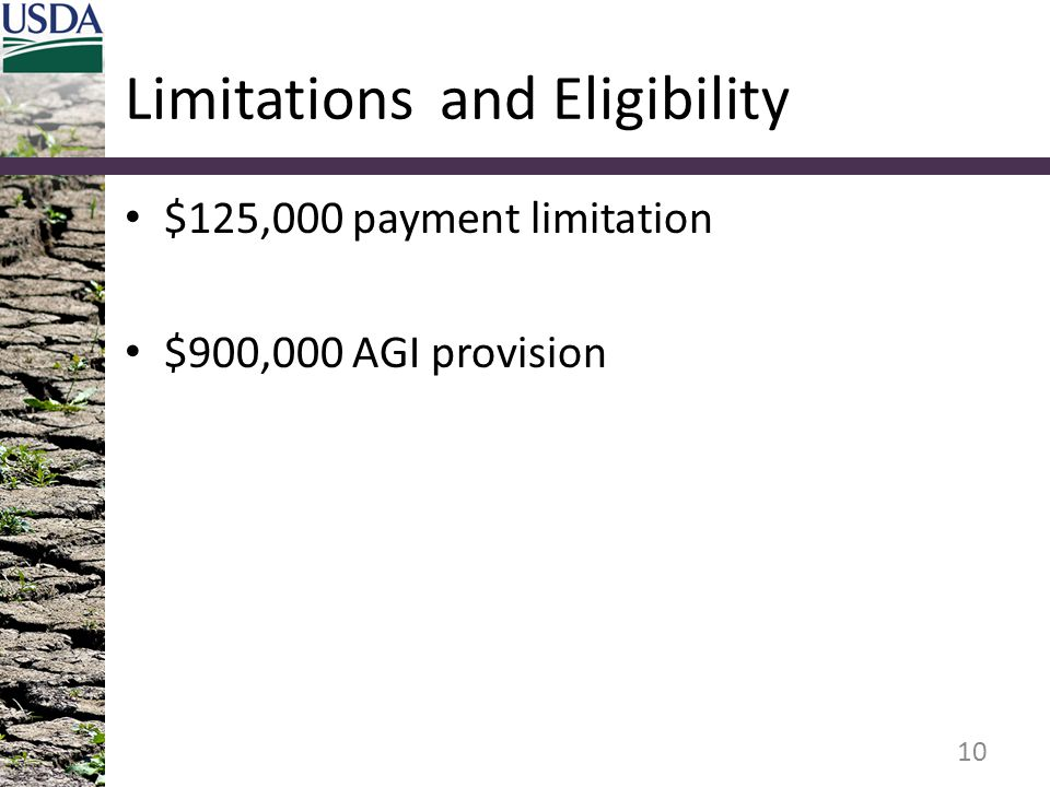 Limitations and Eligibility