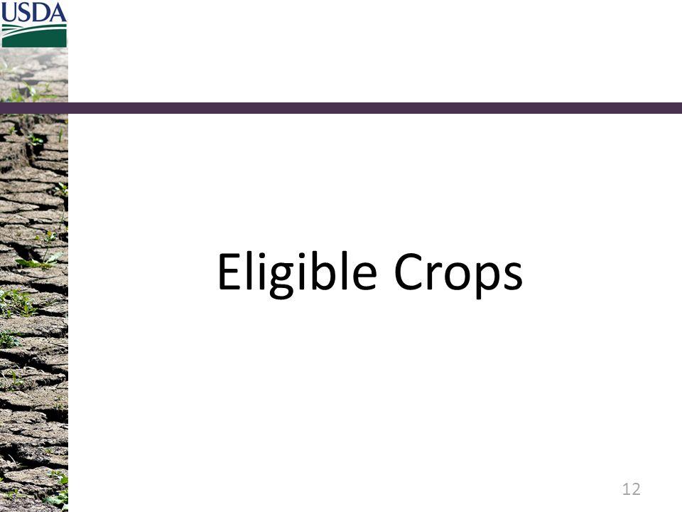 Eligible Crops
