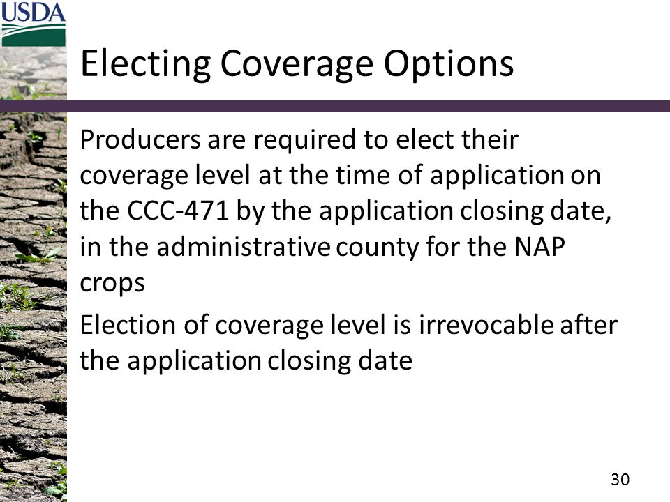 Electing Coverage Options