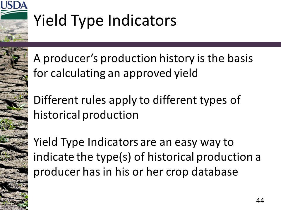 Yield Type Indicators