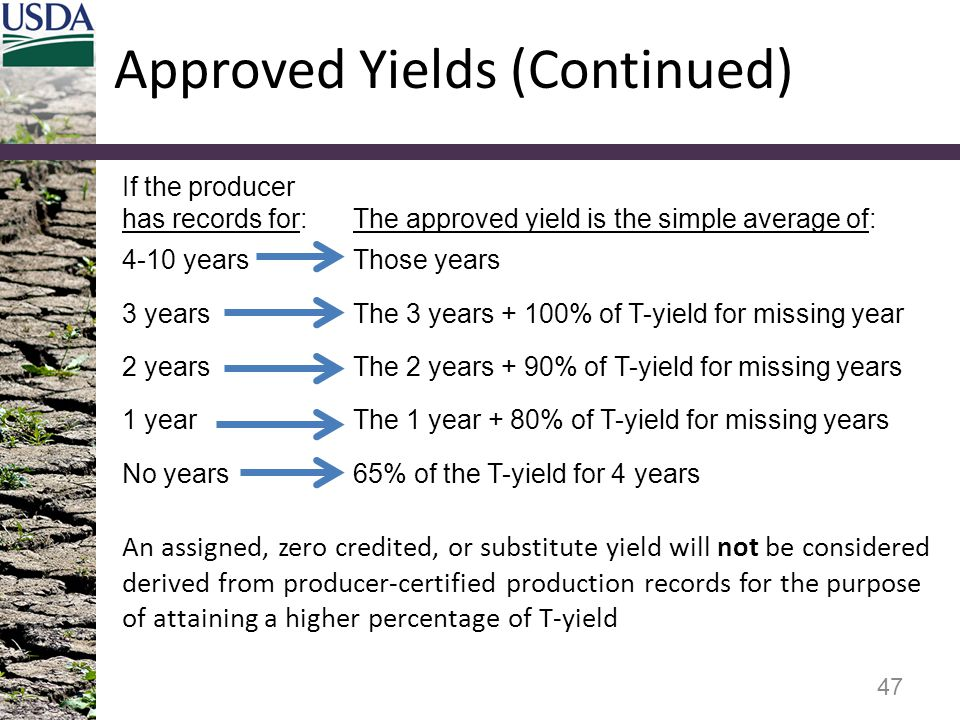 Approved Yields (Continued)