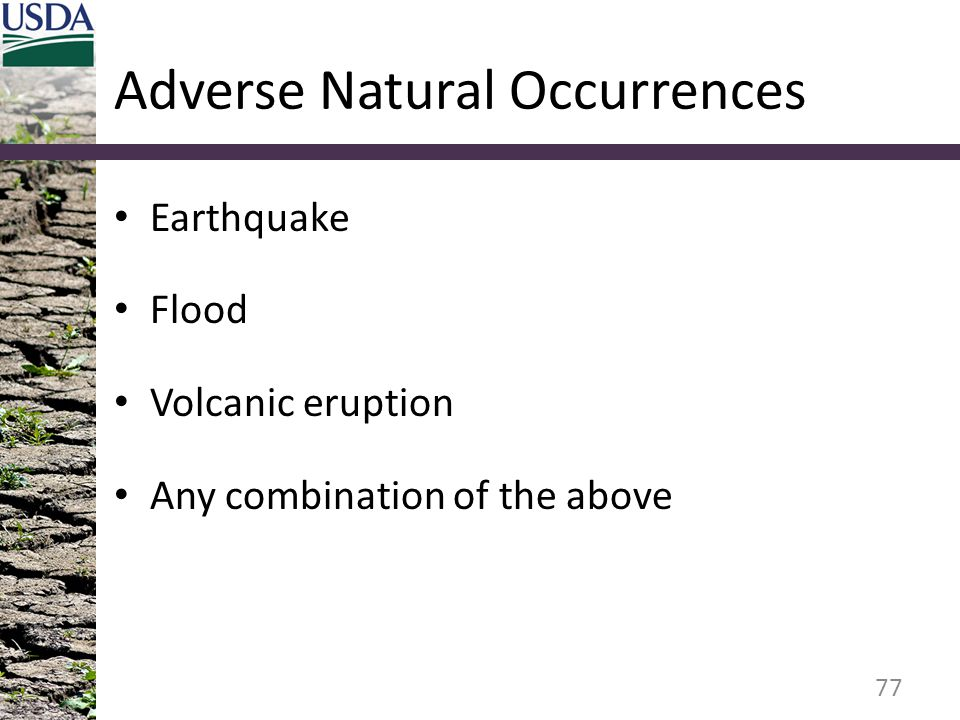 Adverse Natural Occurrences