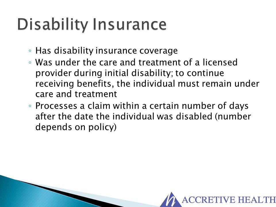 Disability Insurance Has disability insurance coverage