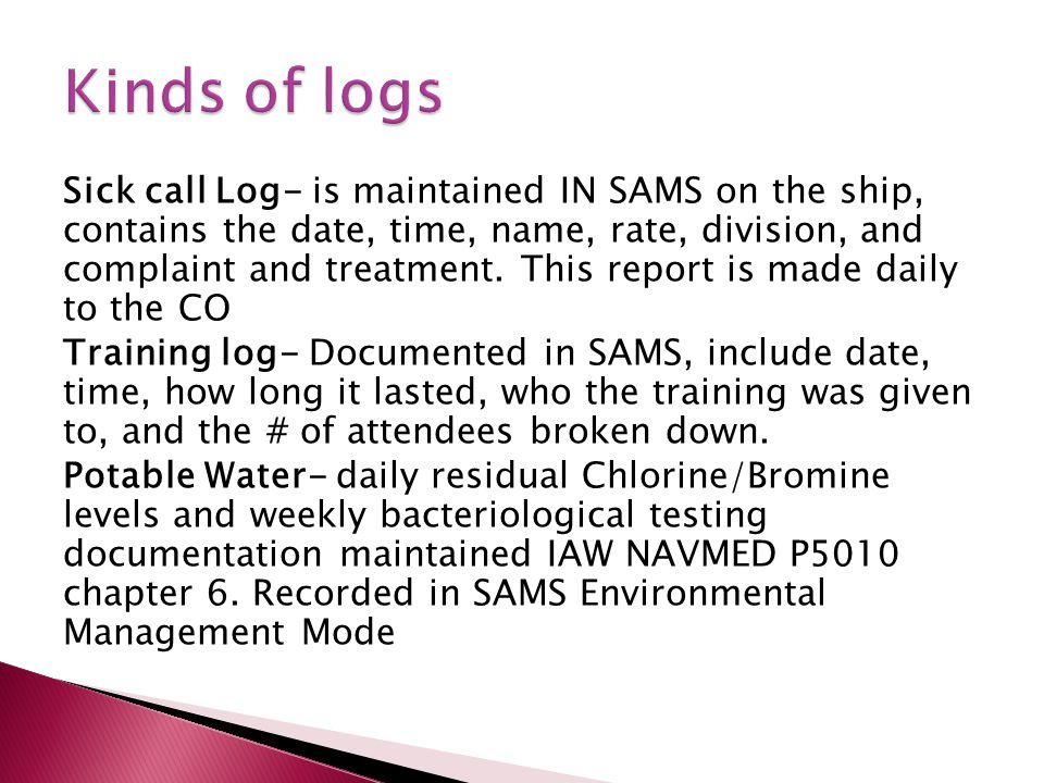 Kinds of logs