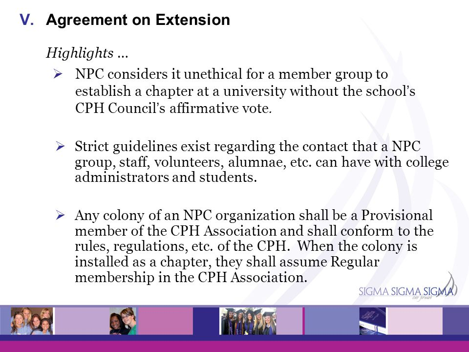 Agreement on Extension Highlights …
