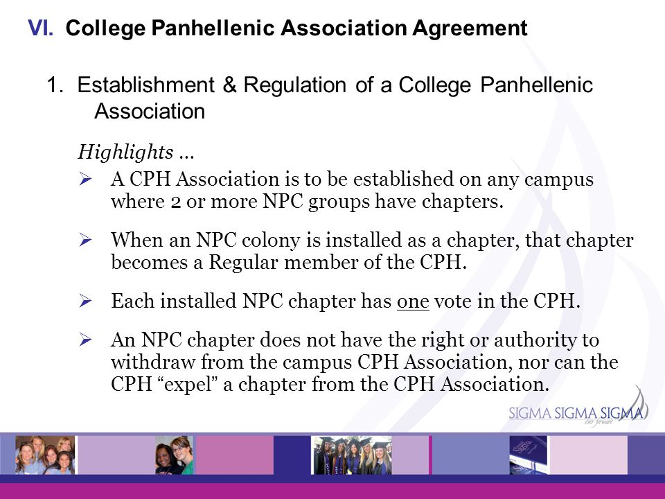 College Panhellenic Association Agreement