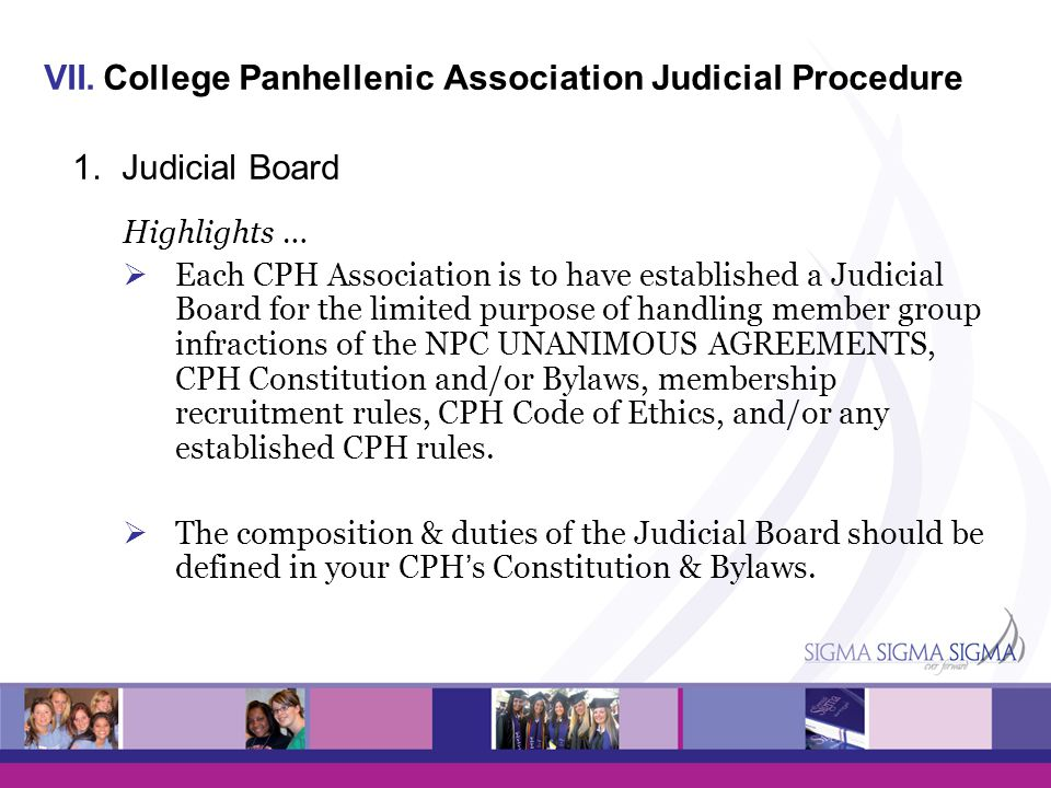 College Panhellenic Association Judicial Procedure 1. Judicial Board