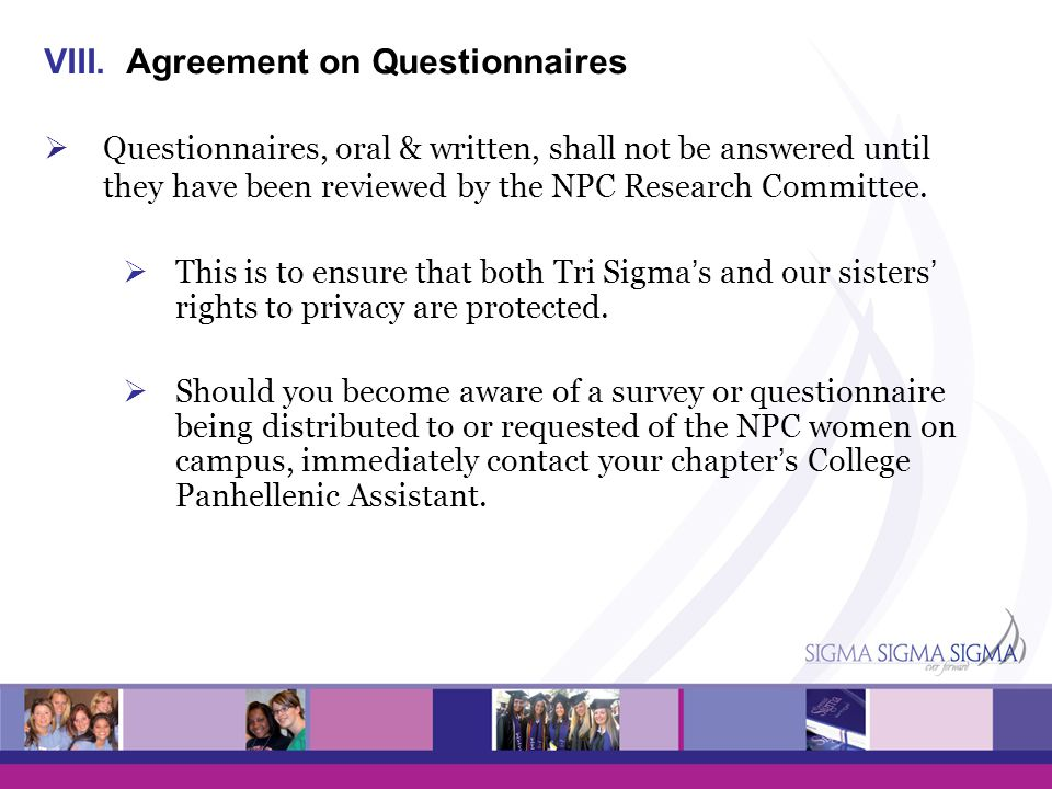 Agreement on Questionnaires