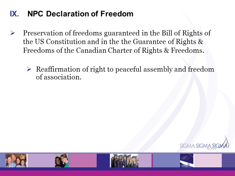 NPC Declaration of Freedom