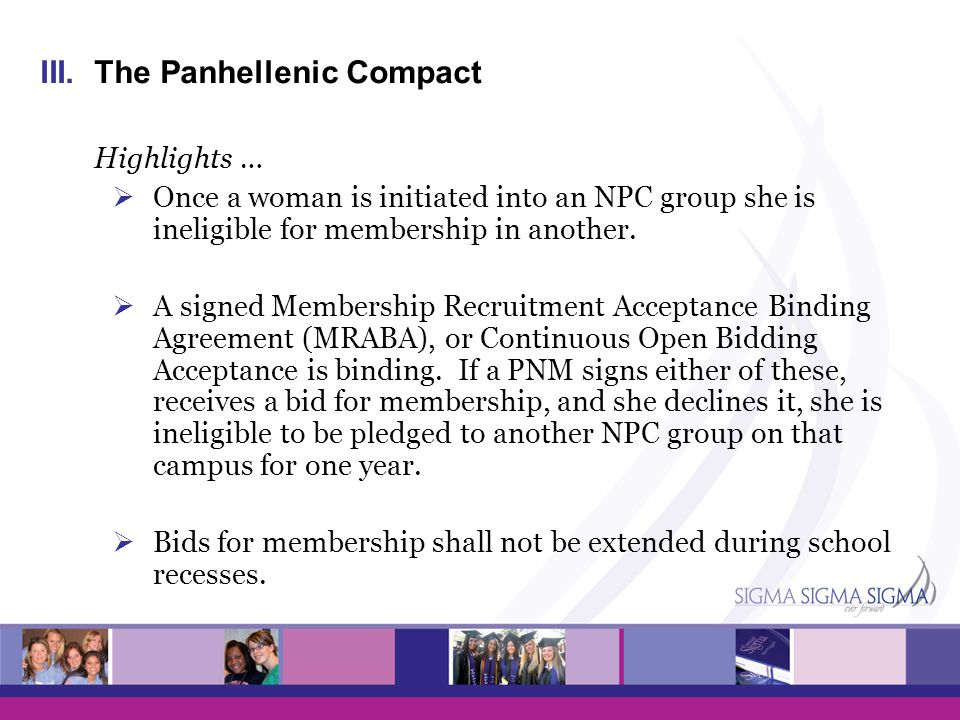 The Panhellenic Compact Highlights …