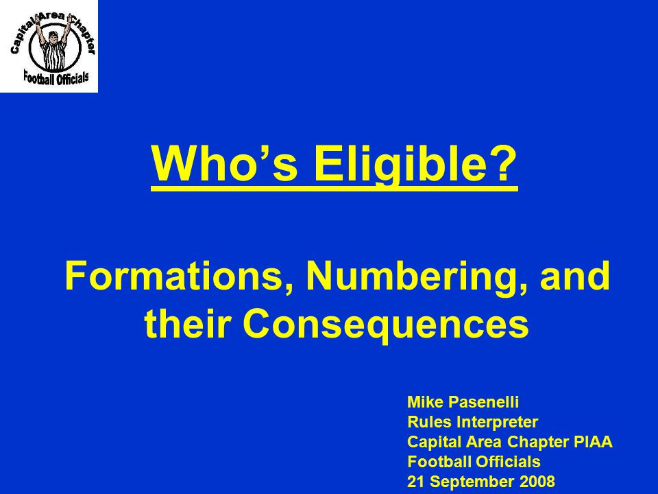 Formations, Numbering, and their Consequences