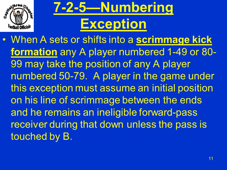 7-2-5—Numbering Exception