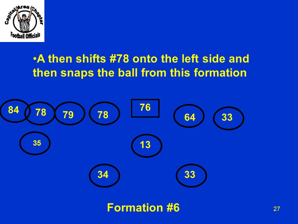 A then shifts #78 onto the left side and
