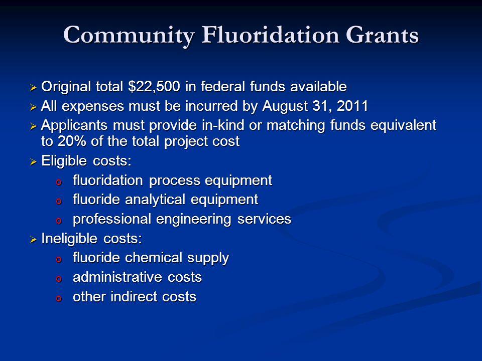 Community Fluoridation Grants