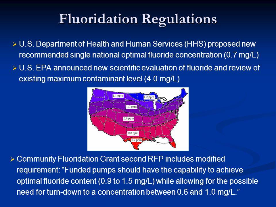 Fluoridation Regulations