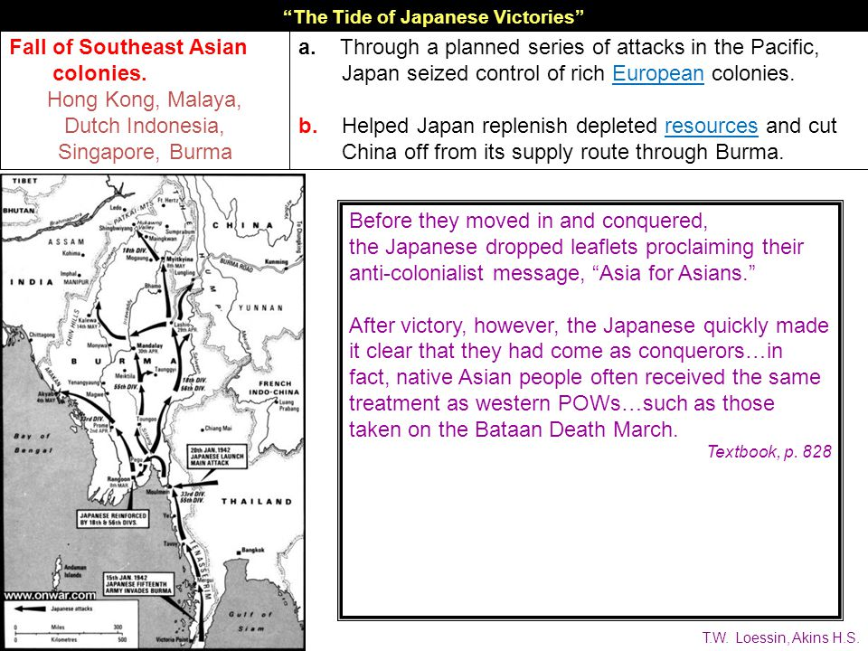 The Tide of Japanese Victories