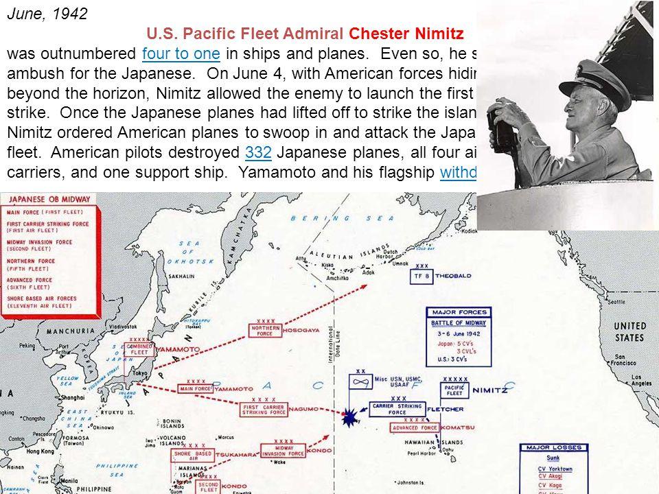 U.S. Pacific Fleet Admiral Chester Nimitz
