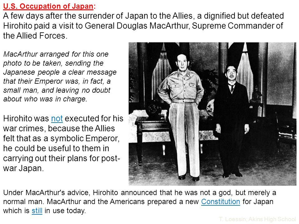U.S. Occupation of Japan: