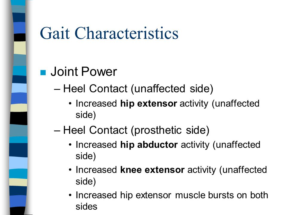 Gait Characteristics Joint Power Heel Contact (unaffected side)