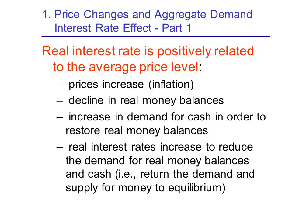 1. Price Changes and Aggregate Demand Interest Rate Effect - Part 1