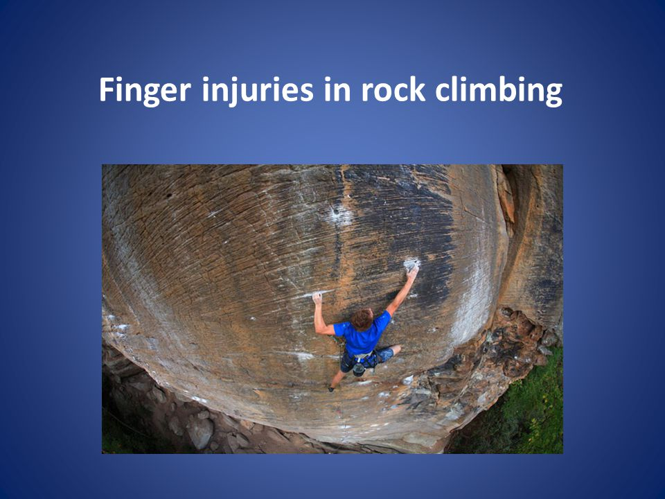 Finger injuries in rock climbing