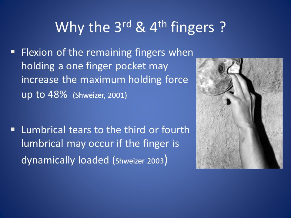 Why the 3rd & 4th fingers