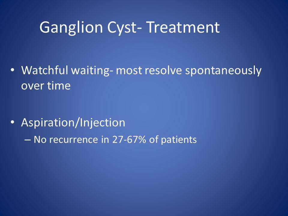 Ganglion Cyst- Treatment