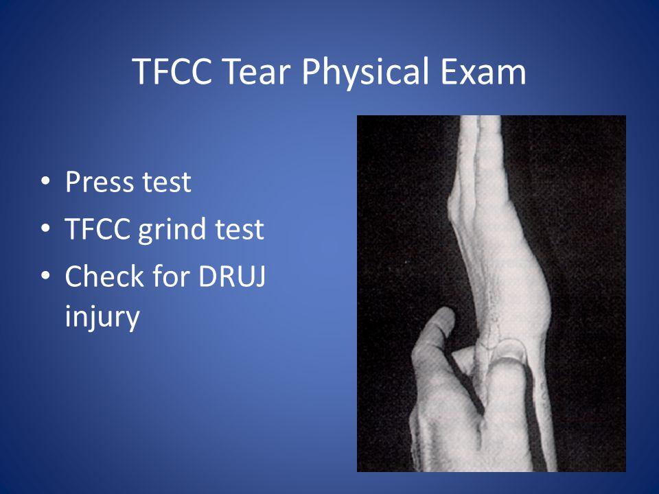 TFCC Tear Physical Exam